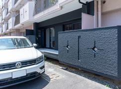 お部屋から直結の専用駐車場